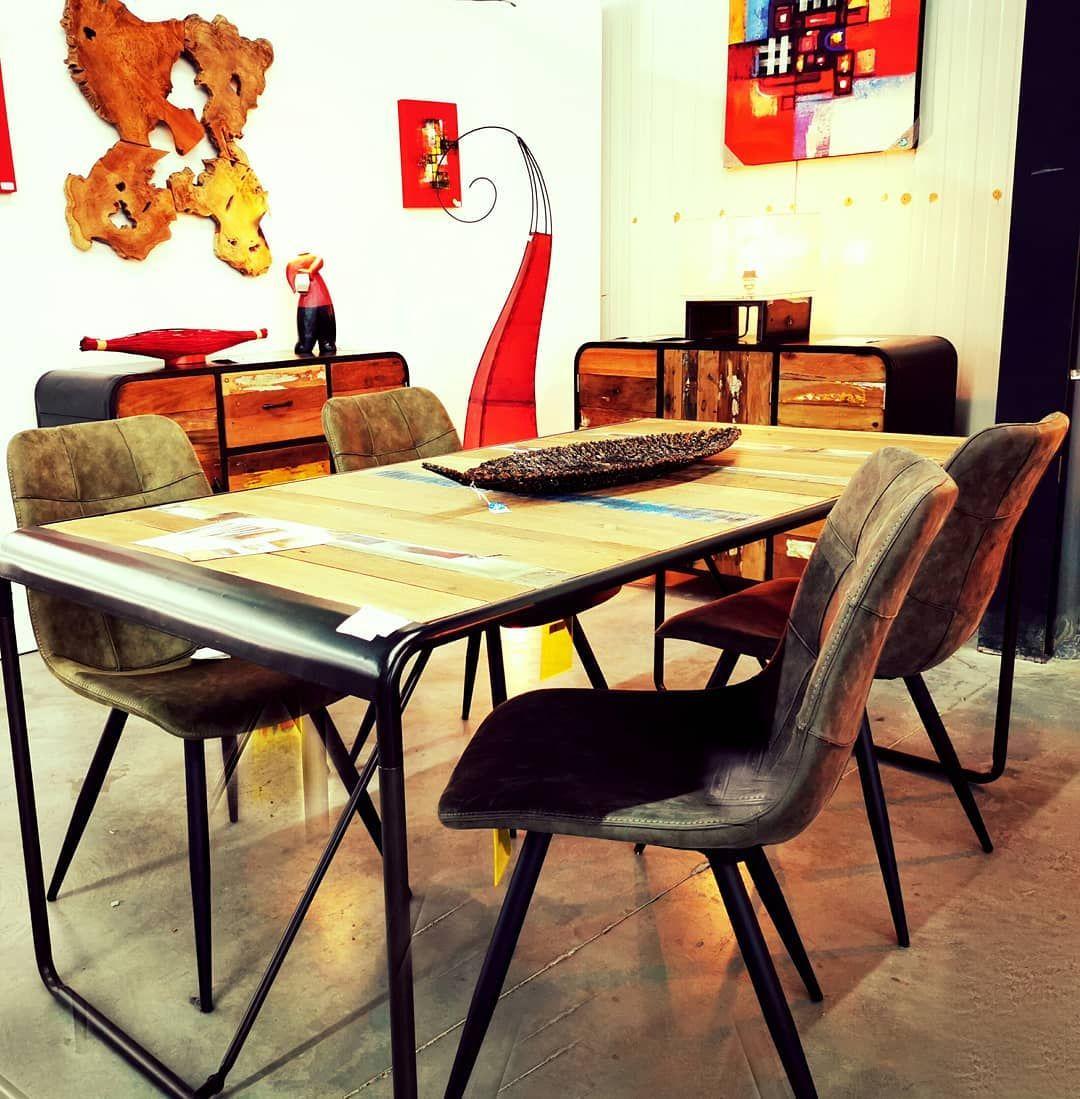 Vous Aimez Le Style Retro Industriel Venez Donc Nous Rendre Visite Et Decouvrez La Collection Kleo Sentiersdumonde I Home Decor Furniture Dining Table