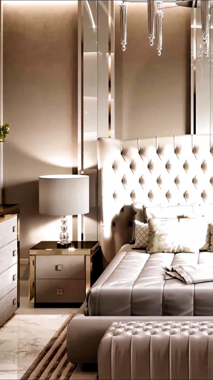 High-end residential villa bedroom interior design video for