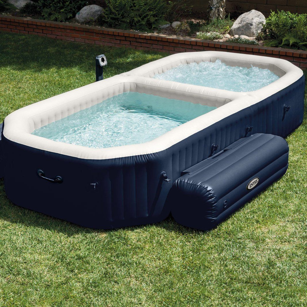 Unique Intex PureSpa Bubble Hot Tub and Pool Combo #HotTub, #Pool, #Spa  TI94