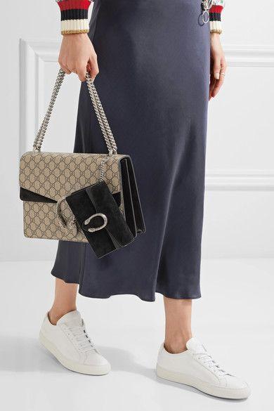 Gucci - Dionysus Super Mini Suede Shoulder Bag - Black ...