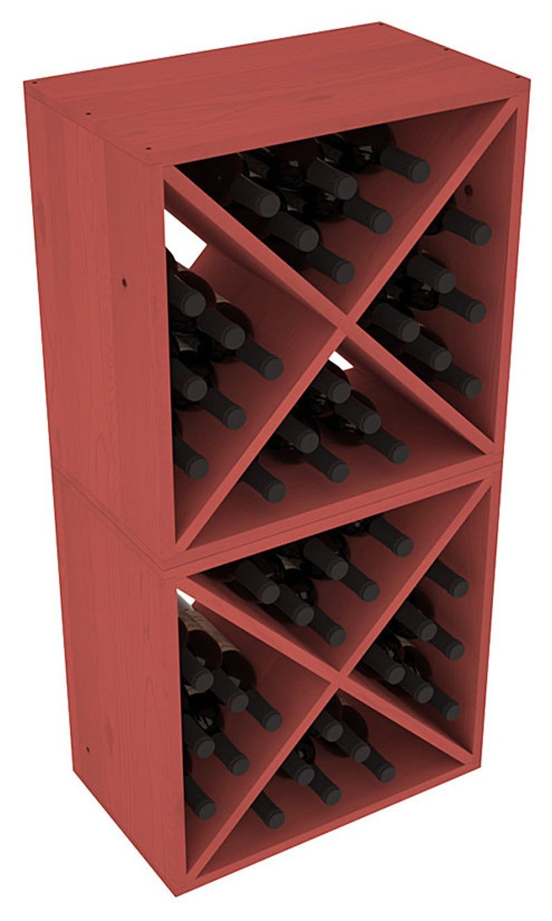 48 Bottle Wine Cube Storage Rack Kit In Ponderosa Pine 13 Etsy In 2020 Wine Rack Bottle Rack Wooden Wine Rack