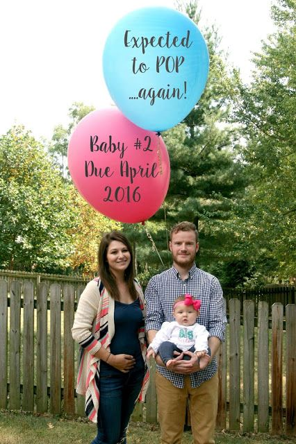 balloon baby number two announcement baby 2 second baby big sister