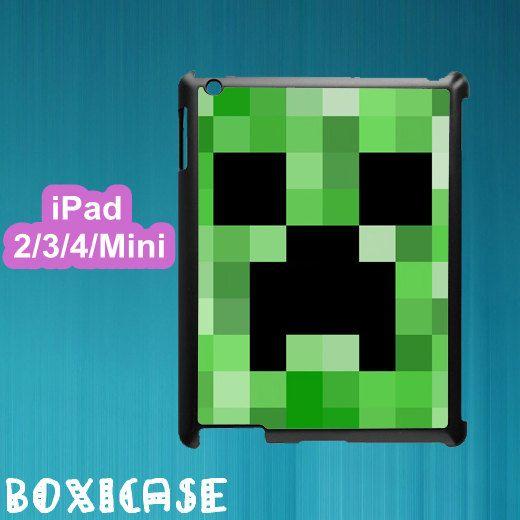 Minecraft Creeper--ipad 2 case,ipad 3 case,ipad 4 case,ipad mini case,in plastic by Boxicase ...