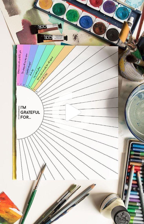 Gratitude journal self care tracker printable bullet journal | Etsy