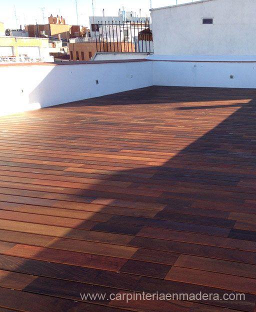 trabajo de suelo de madera para terraza de tico