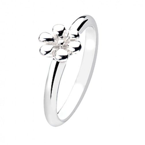 Sterling Silver jewellery, Pimpernel Flower Design Sterling Silver Stacking Ring