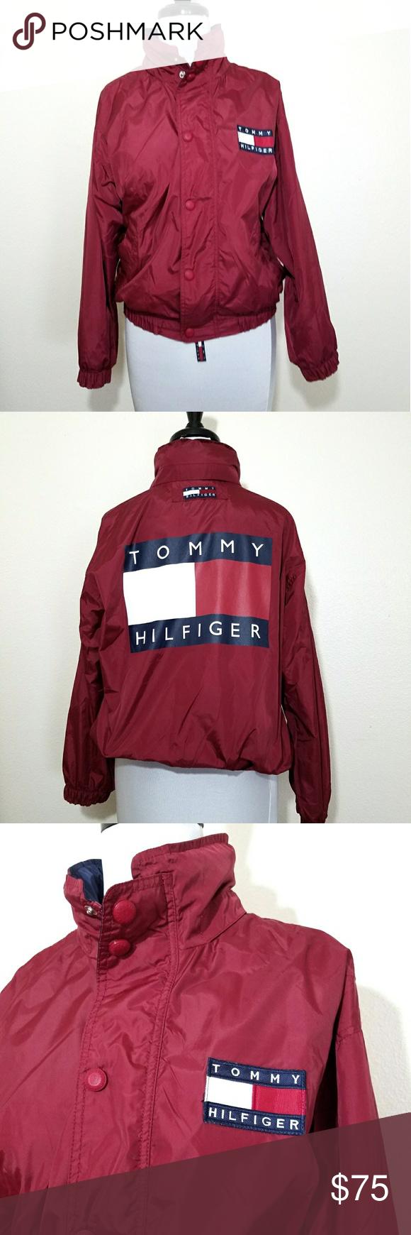 Vintage TOMMY HILFIGER jacket coat M/L (With images