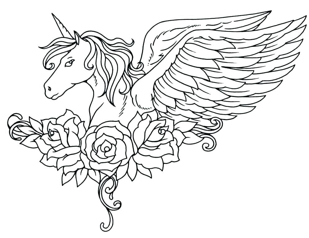 Unicorn Coloring Pages For Adults - Best Coloring Pages For Kids Unicorn  Coloring Pages, Horse Coloring Pages, Unicorn Drawing