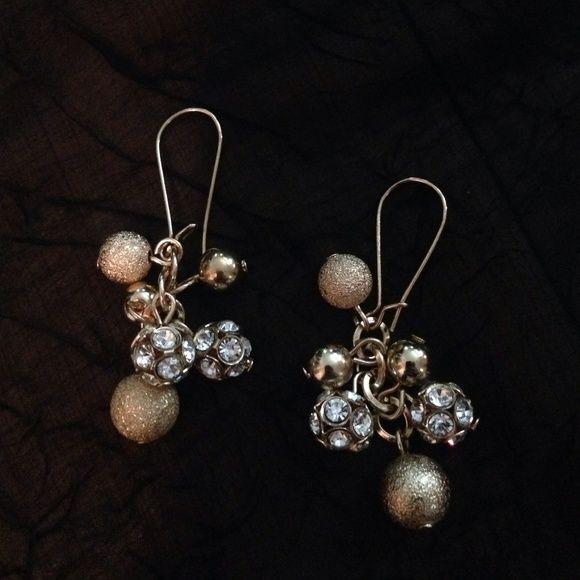 Woman's Earrings Woman's Sophia And Kate Fashion Earrings / Cubic Zir. / Gold Plated Dangle / Cute! Sophia And Kate Jewelry Earrings
