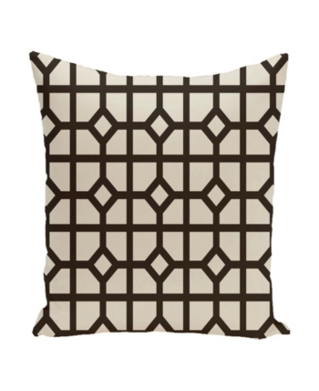 Dark Brown Throw Pillows.16 Inch Dark Brown Decorative Geometric Throw Pillow