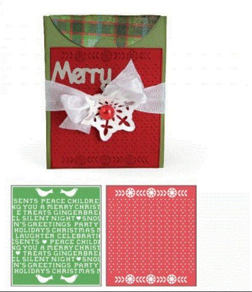 Sizzix Bigz XL Die W/Bonus Textured Impressions-Card, A2 W