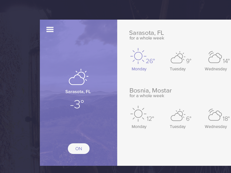 Weather App  by Namik White