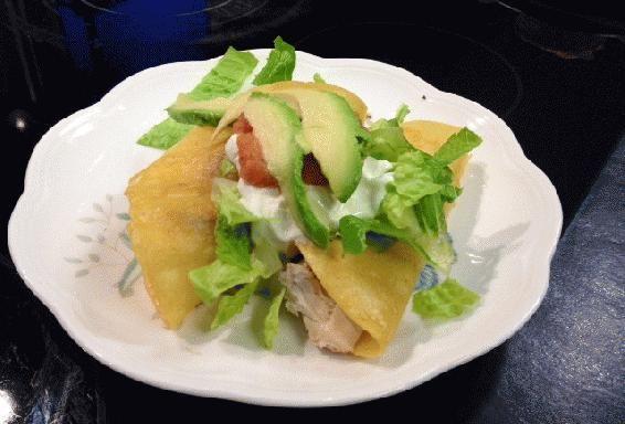 Tacos Dorados de Pollo (Golden Chicken Tacos) - by Blue Ridge Bear Healthy Bakery, Chef Janet Casperson