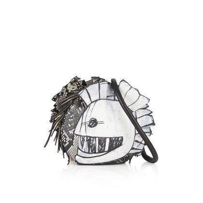 Pallas Helmet leather and snakeskin shoulder bag Burberry YDK7iKb3