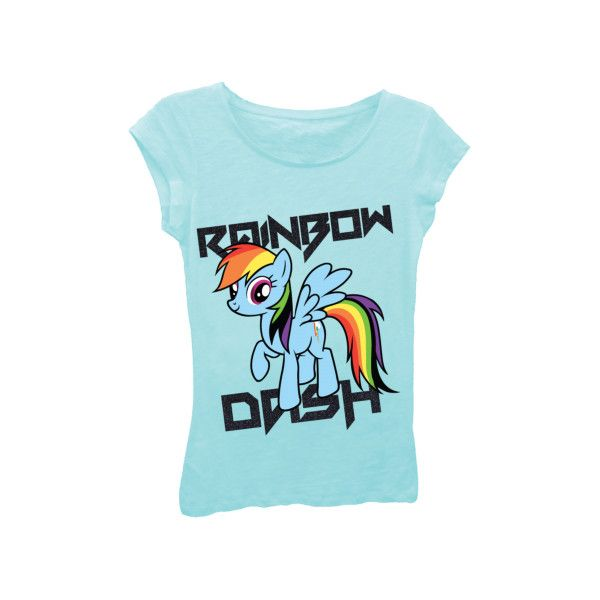 New My Little Pony Show - Rainbow Dash T-Shirt | T-Shirt Mall ($12) ❤ liked on Polyvore featuring tops, shirts, my little pony, t shirts, blue tee, shirts & tops and blue shirt