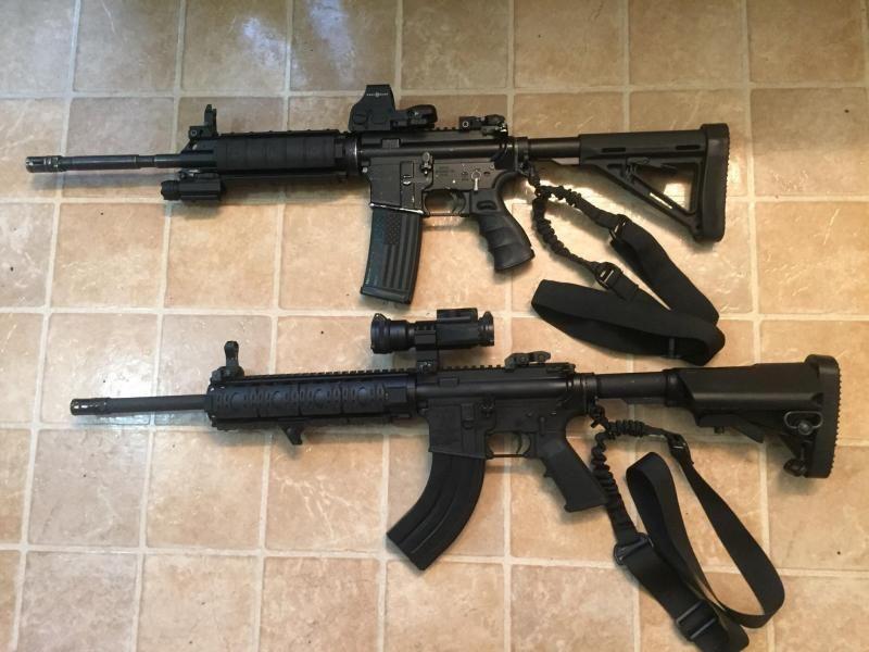 AR-15 Rifle 7 62 X 39 Caliber Semi Auto Flat Top Rifle, 30
