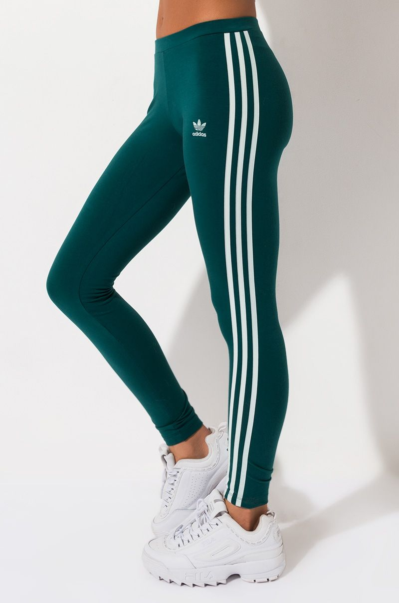 ADIDAS WOMEN'S 3 STRIPE TIGHTS | Outfits with leggings