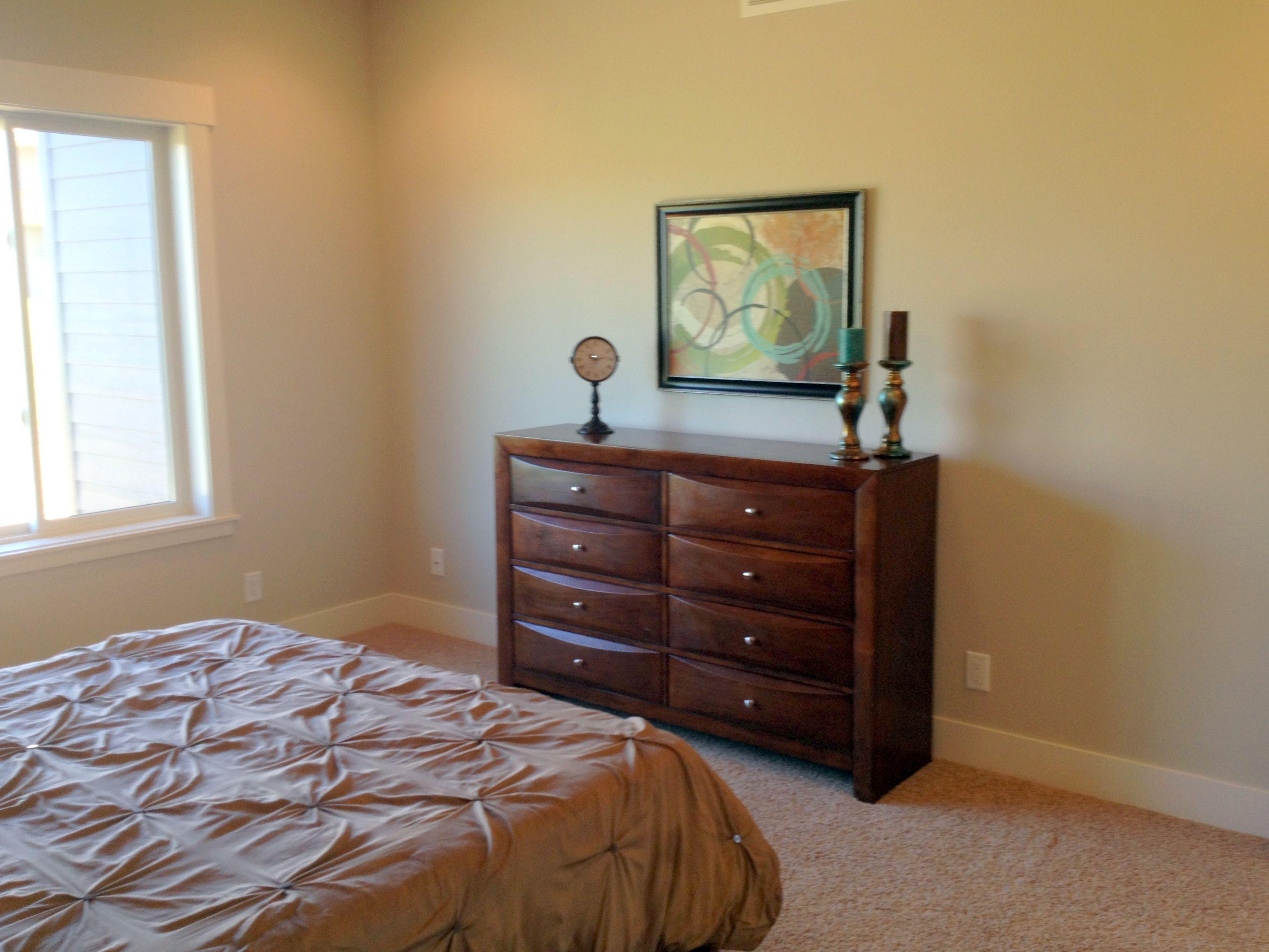 After Staging of Master Bedroom Dresser as nightstand