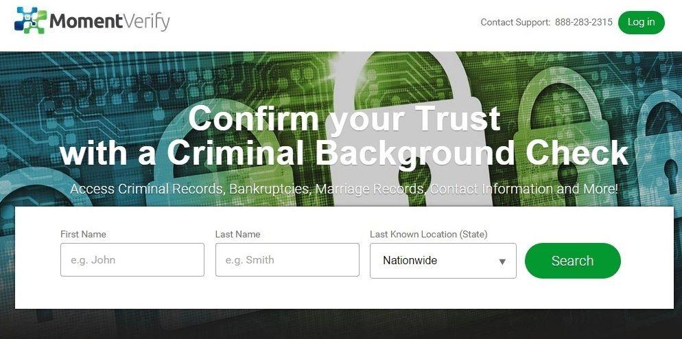 Momentverify background check services. Criminal