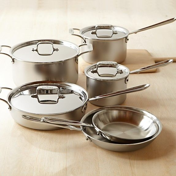 All Clad D5 Stainless Steel 10 Piece Cookware Set Cookware Set Cookware Set Best Cookware Sets