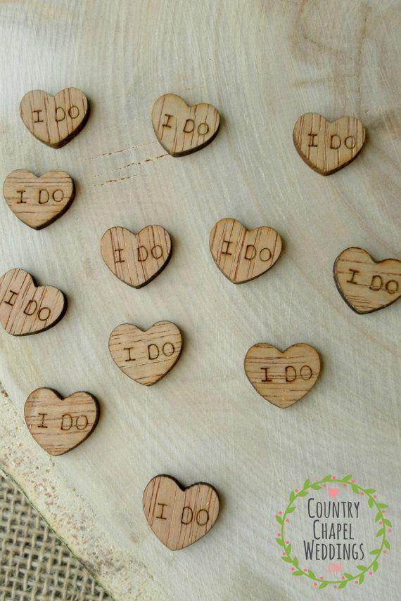 100 Tiny I Do Hearts 1 2 Cute Little Wooden Hearts Bridal