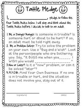 A Bad Case Of Tattle Tongue Pledge Classroom Behavior Management