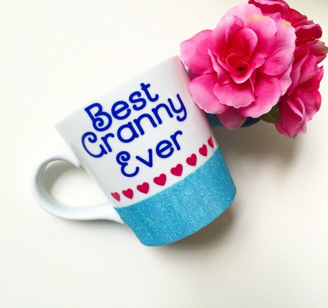 Best coffee mugs etsy - Custom Glittered Coffee Mug Best Granny Ever 16oz