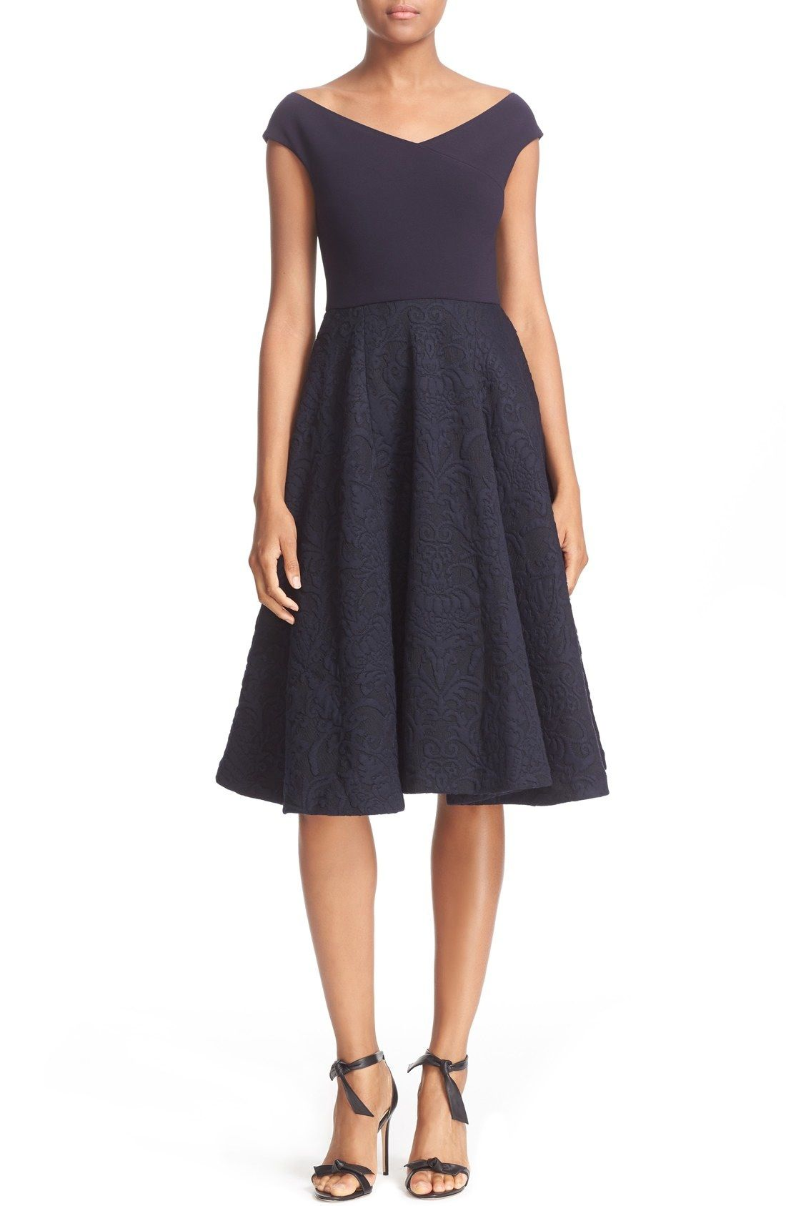 8aba05ca3cf1 Ted Baker London  Getris  Off the Shoulder Textured Skirt Fit ...