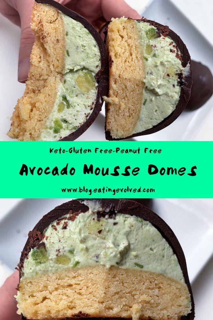 Keto avocado mousse dome recipe avocado mousse