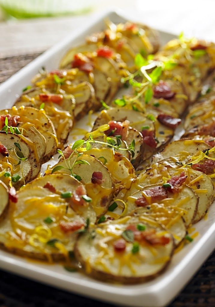 Loaded Potato Slices Recipe | Yummly