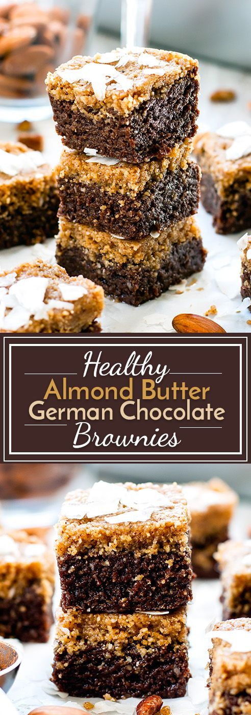 Healthy German Chocolate Bars with Almond Butter Recipe