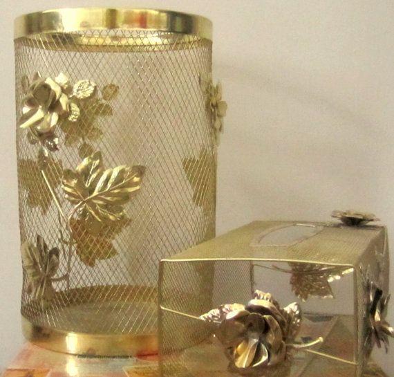 Vintage Gold Mesh Metal With Rose Gold Tissue by rosaelianevarez, $26.00