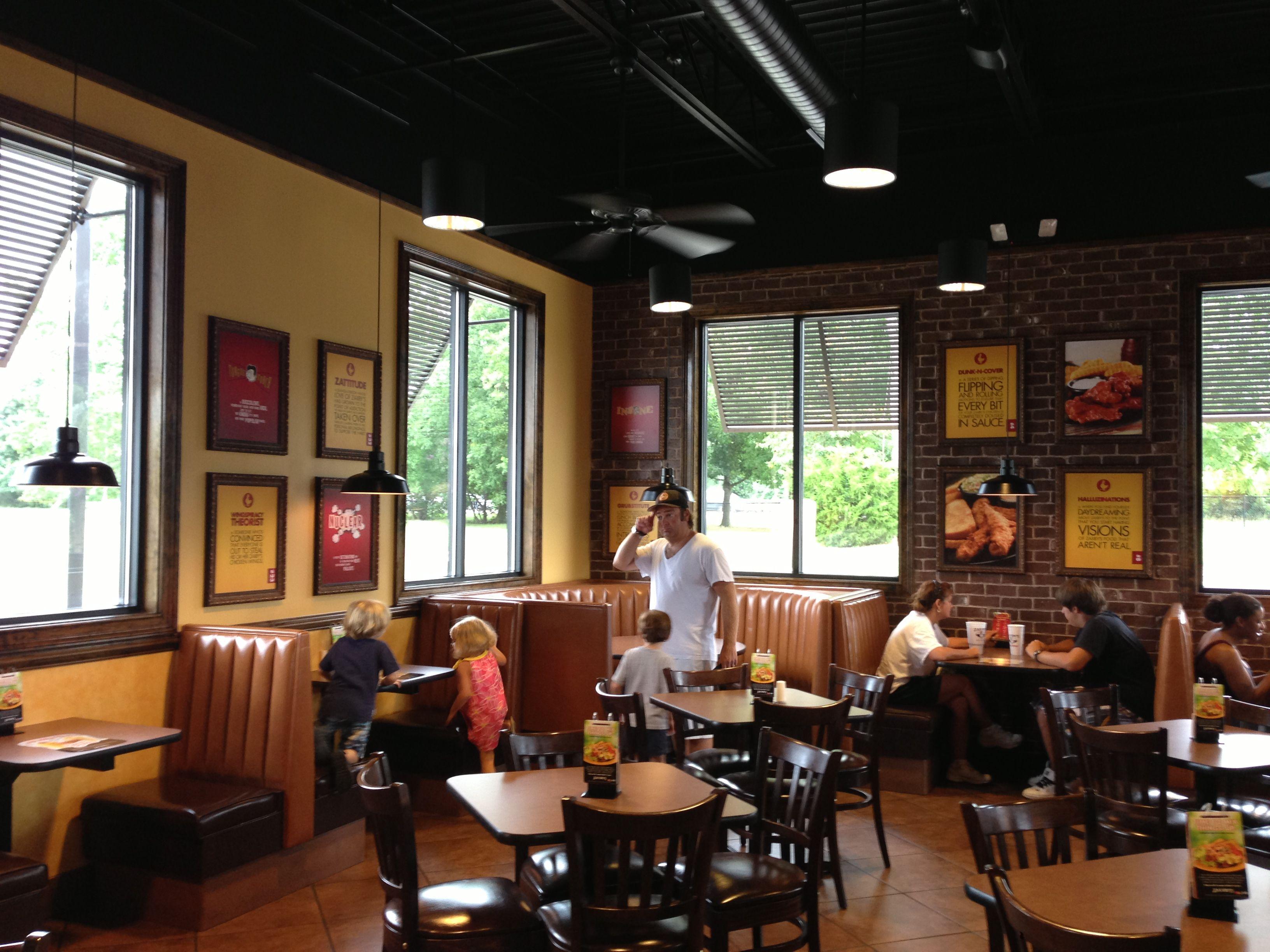Zaxby's interior Restaurant design, Restaurant decor, Decor