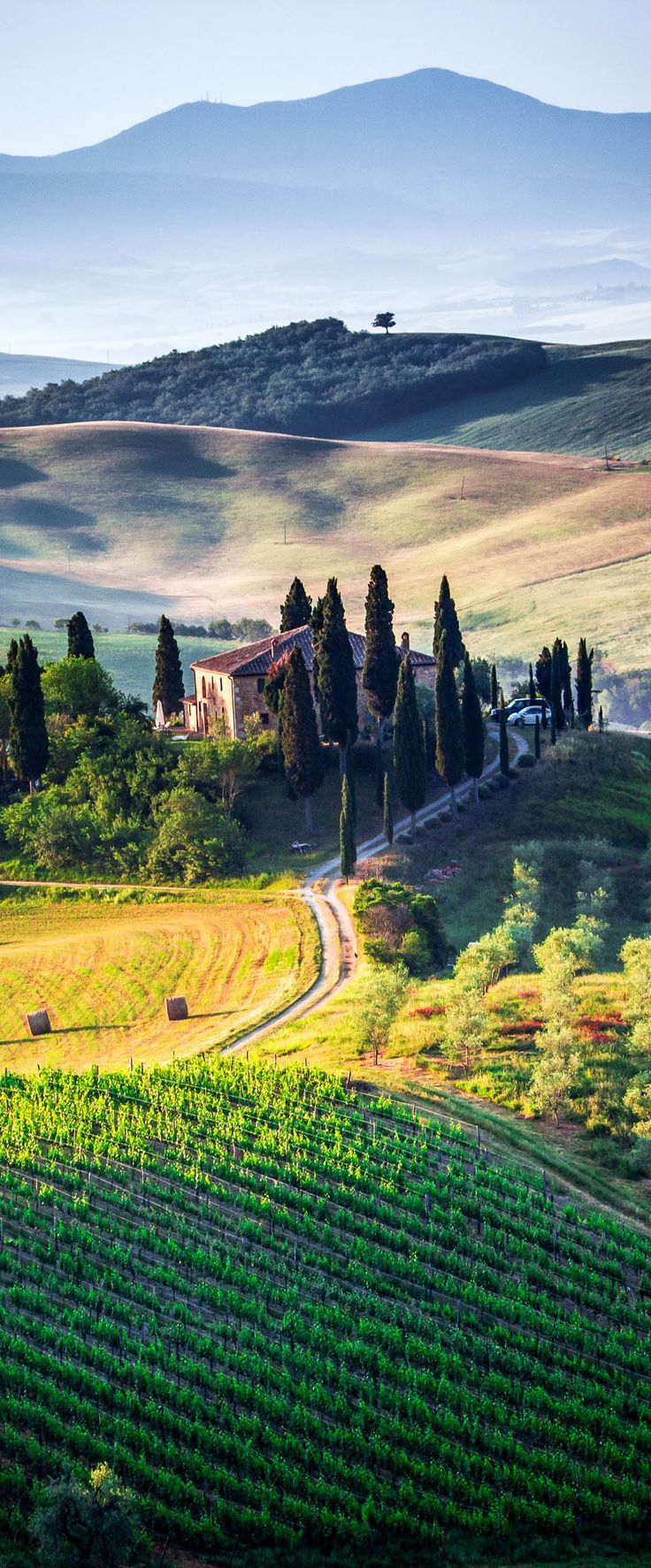 The different colors of Tuscany, Italy.