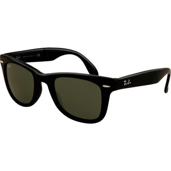 ed9d907323adb ... closeout ray ban rb4105 601 wayfarer folding liked on polyvore  featuring accessories eyewear b66ad bd07e ...