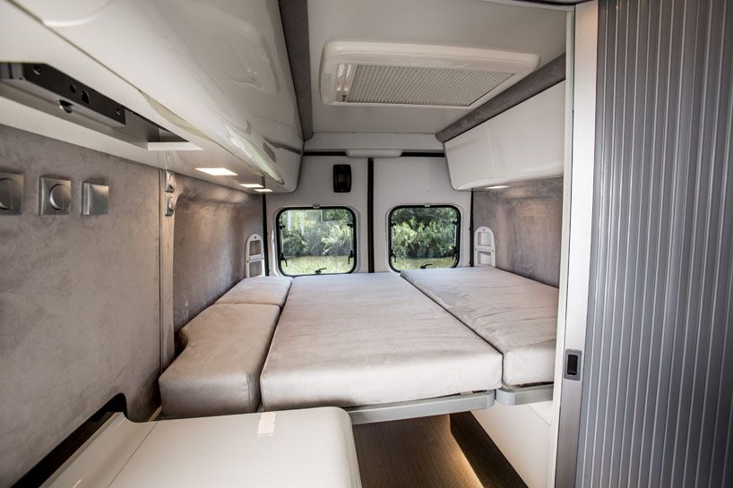 The Fiat Ducato Camper Van Sports A Two Tone Paint Finish And Comes Outfitted With An LED Light Bar Front Winch Lot Of Capacity For Carrying