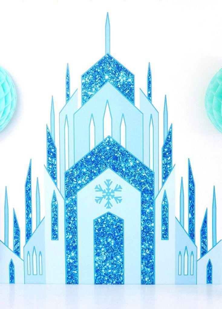 Ice Princess Castle Large Printable Poster Frozen Decoracion