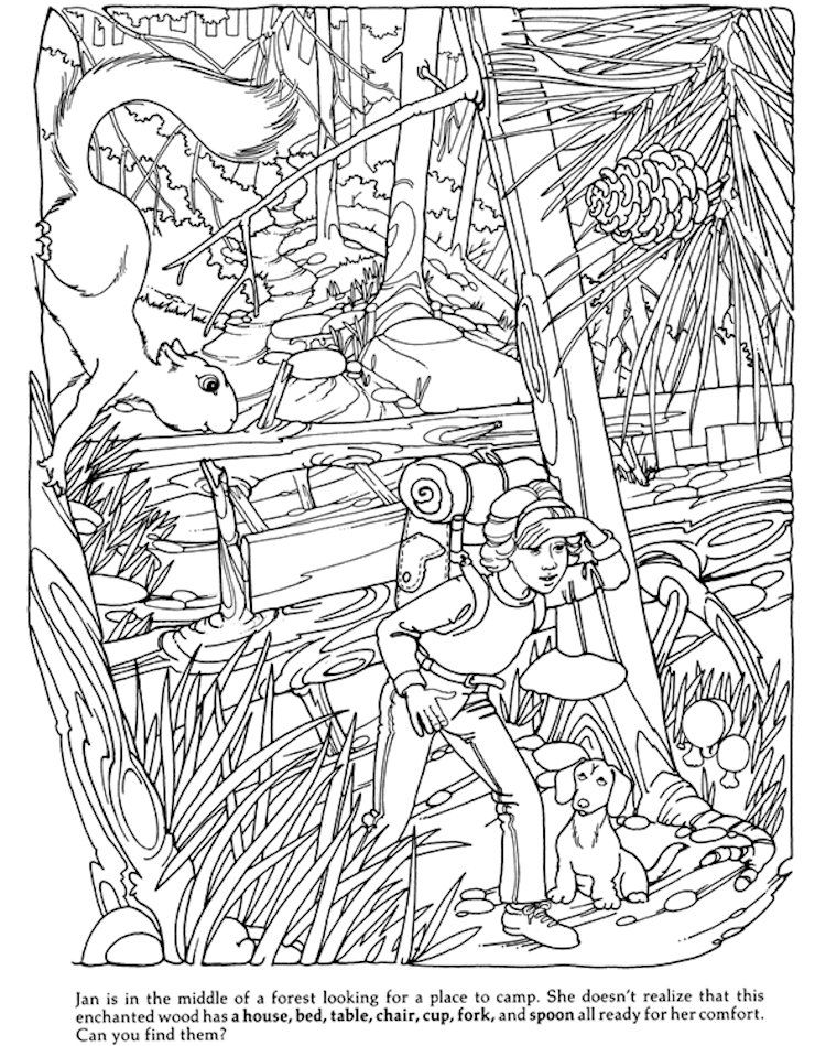 Dover Hidden Objects Coloring Page | Spanish Kids | Pinterest ...