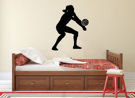 Volleyball Player Wall Decal  X  Volleyball Player - Vinyl volleyball wall decals