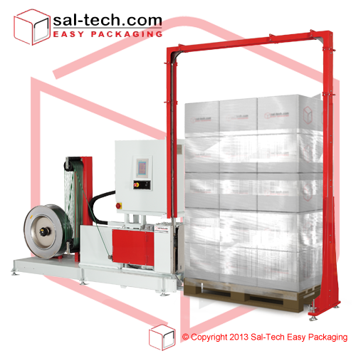 Step Tp 703 Is A Fully Automatic Pallet Strapping Machine Designed For Packaging Applications That Require Vertical Strapping For Machine Design Pallet Design