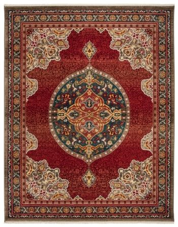 Safavieh Kashan Red And Blue 8 X 10 Area Rug Reviews Rugs