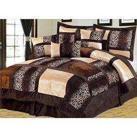 Empire Home Safari 7Piece Brown Queen Size Comforter set