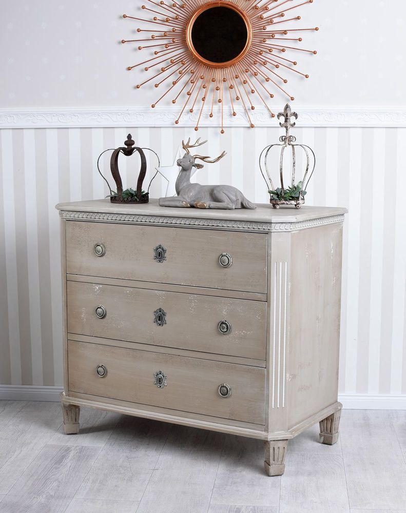 Sideboard Shabby Chic Details About Swedish Dresser Bedside Table Gustavianischer