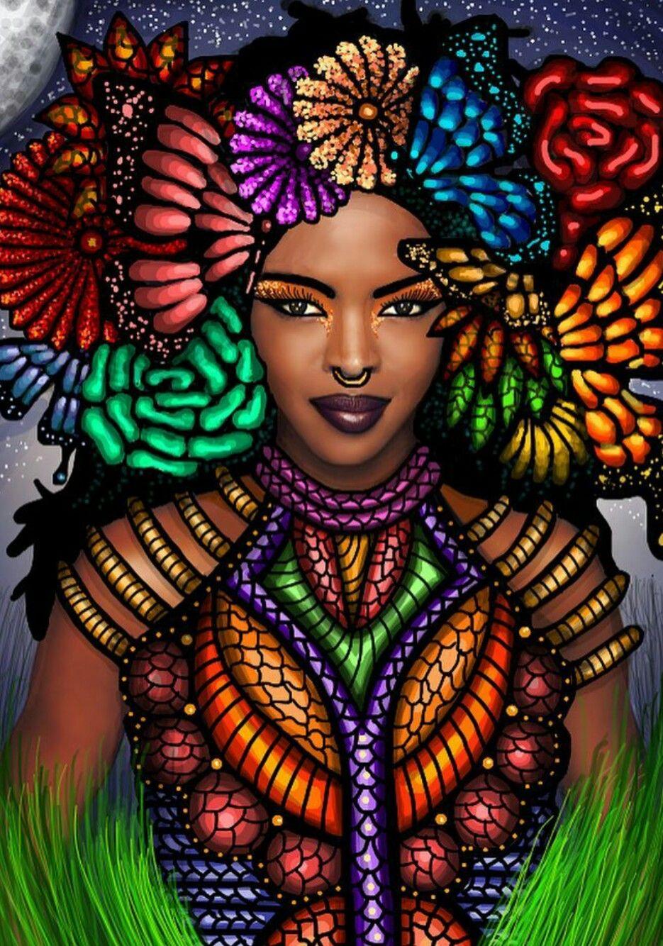 Pin by Wisdom's Wall on Black Art Black women art, Black