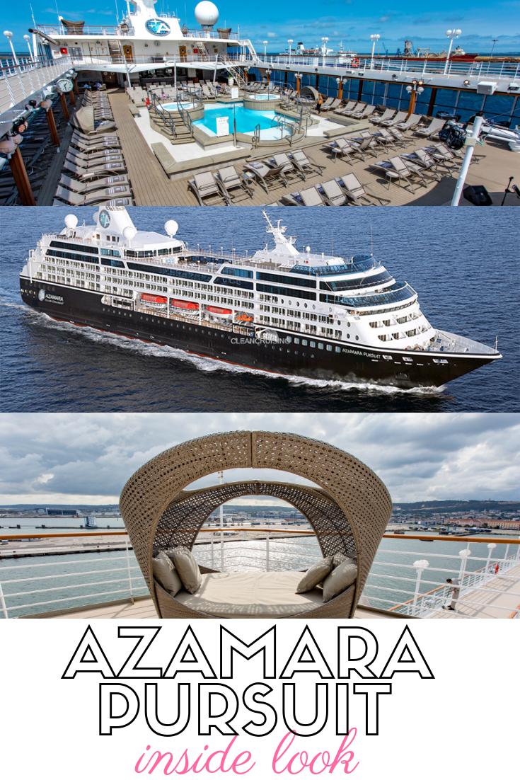 The 702-passenger Azamara Pursuit fits nicely into Azamara's fleet