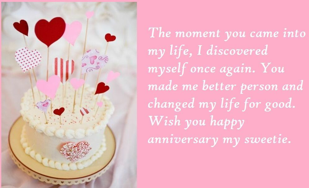 Magnificent Cute Cake Anniversary Images Wishes Quotes For Wife With Images Funny Birthday Cards Online Elaedamsfinfo