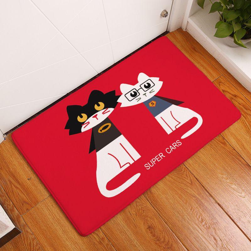mdct cartoon black white red cat pattern door mats 40x60cm anti slipmdct cartoon black white red cat pattern door mats 40x60cm anti slip kids children room floor mats living room bath area rugs affiliate