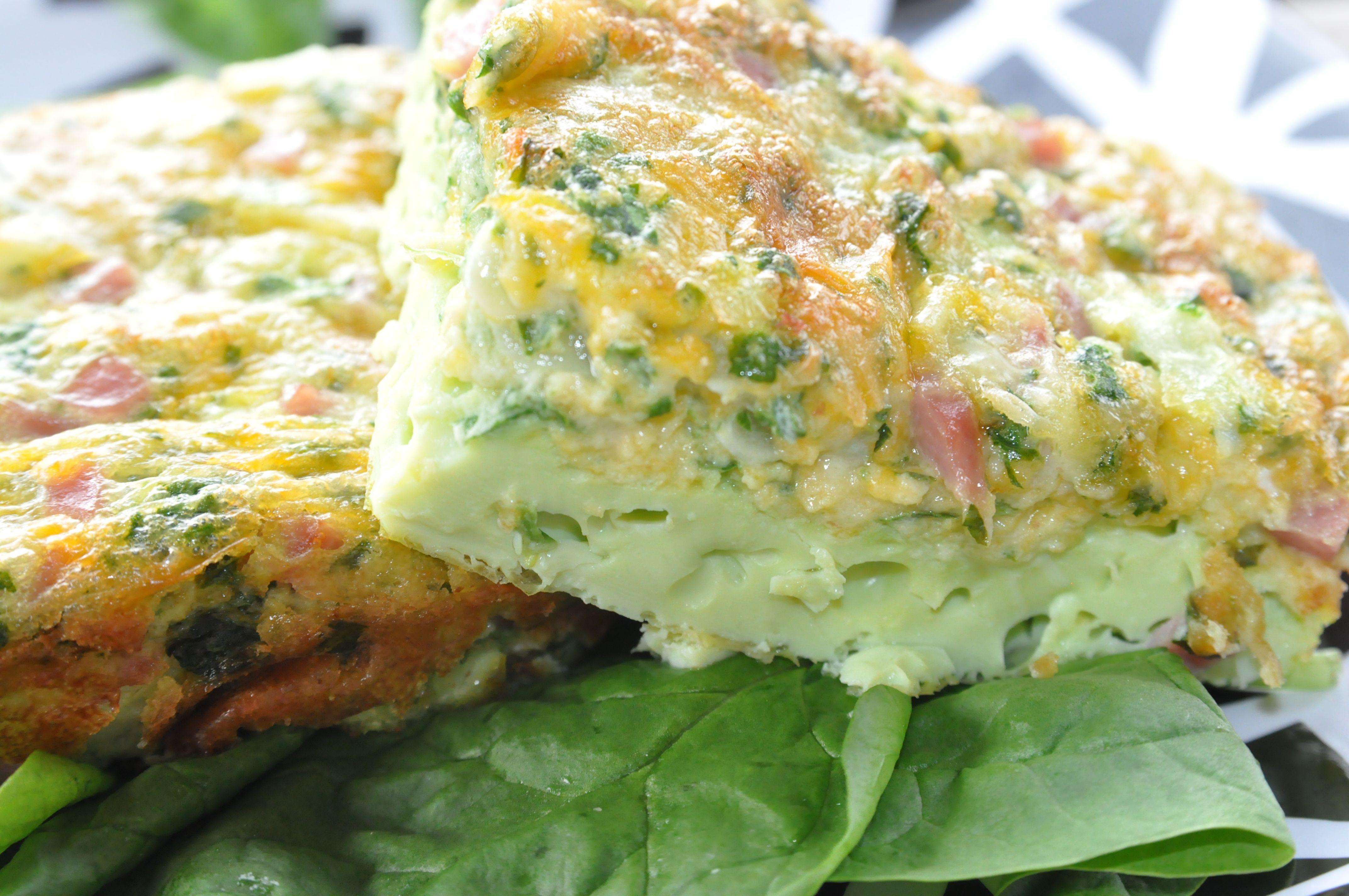 Green Eggs and Ham Frittata #greeneggsandhamrecipe