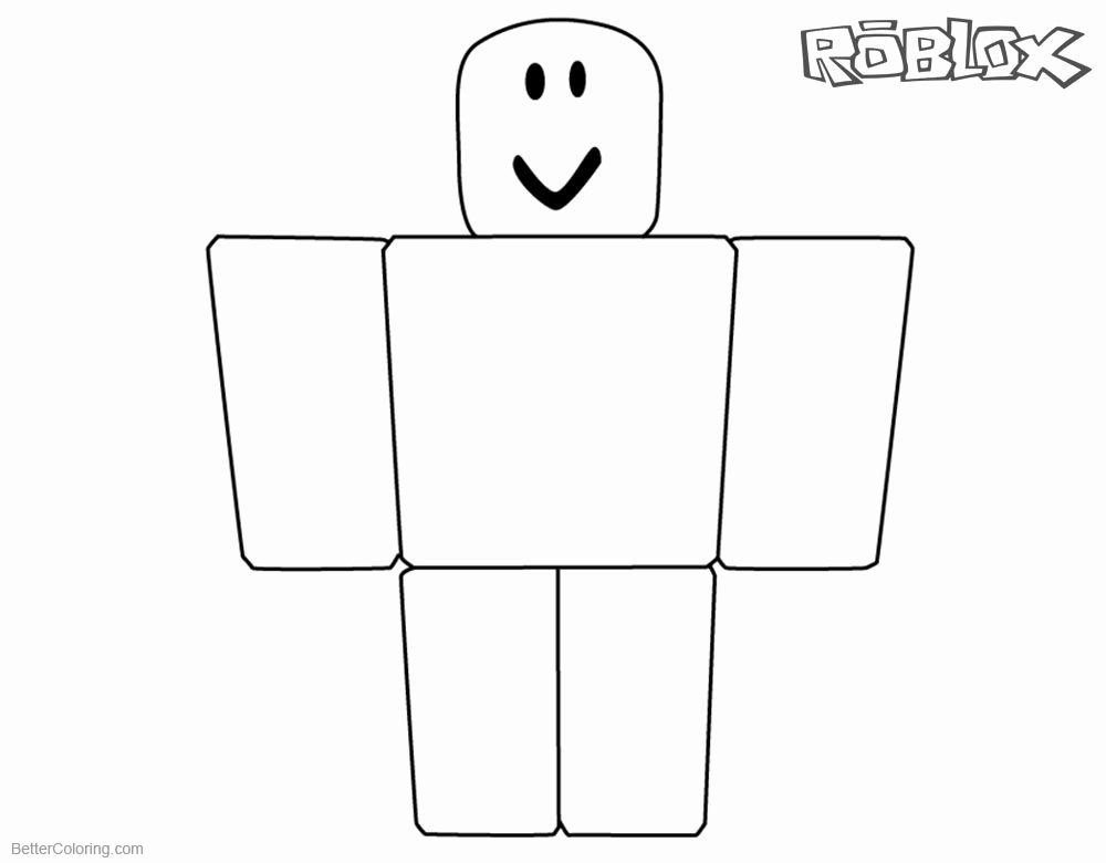 Roblox Printable Coloring Pages New Roblox Noob Coloring Pages Simple Noob Picture Free Coloring Pages Printable Coloring Pages Barbie Coloring Pages