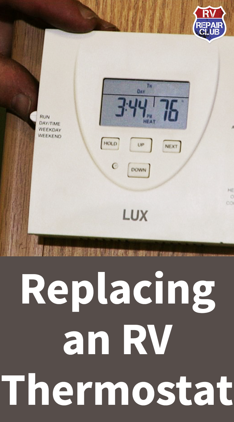 RV Thermostat Replacement: Digital Thermostat Install ... on